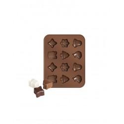 Formičky TESCOMA na čokoládu DELÍCIA CHOCO, vánoční motivy