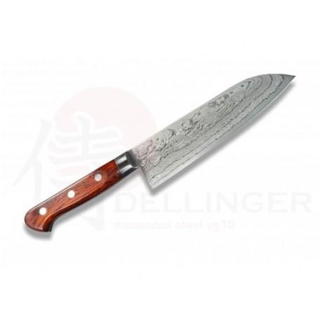 Japonský damaškový nůž KIYA 49 layers Kamagata