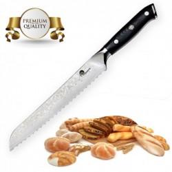 "nůž na chléb Bread 8"" (200mm) Dellinger Samurai Professional Damascus"