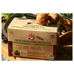 BBQ brikety ze skořápek kokosových ořechů Cococabana - krabice 9 kg