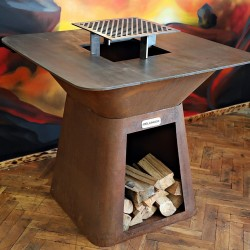 Corten-Steel Big-Chef Gril Dellinger Smoke&Fire