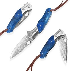 nůž zavírací Dellinger KAERU VG-10 Damascus