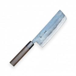 nůž Nakiri 170 mm - KIYA Suminagashi Kurouchi Damascus 11 layers