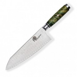 "Kiritsuke / Chef 8"" (200mm) Dellinger LADDER-Green Professional Damascus"
