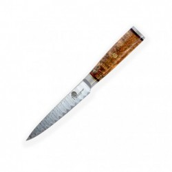 "nůž Utility 5"" (130mm) Dellinger LADDER Sapele ( White Shadow ) Professional Damascus"