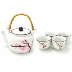 konvička na čaj Sakura 800 ml + 4 šálky 120 ml