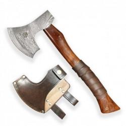 """BAZAR Sekera """"Dellinger Valhalla Leather"""" z damascénské oceli"""