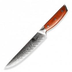 "nůž plátkovací Carving 8,5"" (210mm) Dellinger Rose-Wood Damascus"