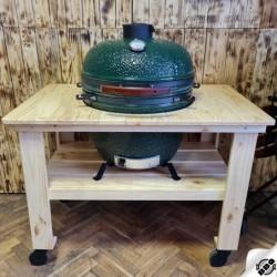 """dřevěný borovicový stůl pro keramický gril kamado 23,5"""" - Dellinger Smoke&Fire"""