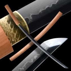 Shirasaya 保存拵 Japanese Sword - T-10 Steel, Yokote - Real Hamon