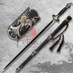 Čínský meč dynastie Ming, Feather Grain Damascus Steel