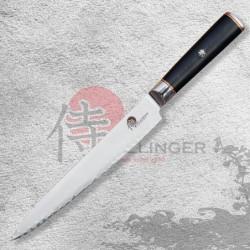 """Japonský kuchařský plátkovací nůž 9"""" (225mm) Dellinger Okami 3 layers AUS10"""