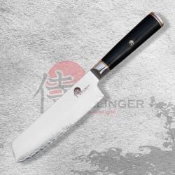 """Japonský kuchařský nůž Nakiri 7"""" (170mm) Dellinger Okami 3 layers AUS10"""