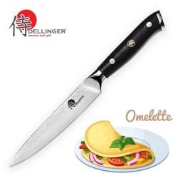 """nůž Utility 5"""" (130mm) Dellinger Samurai Professional Damascus"""