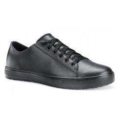 Pracovní obuv Old School Shoes For Crews hladká kůže - barva černá