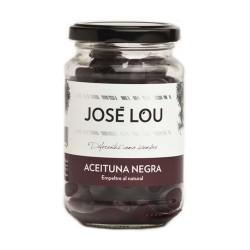 olivy černé s peckou José Lou Empeltre přírodní bez nálevu 210 g