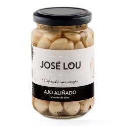 stroužky česneku José Lou v nálevu s olivovým olejem a aromatickými bylinkami 250 g