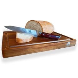 "nůž na chléb Bread 8,5"" (210mm) Dellinger Rose-Wood Damascus s akátovým prkénkem"