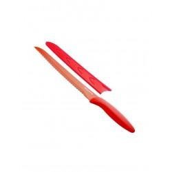Antiadhezní nůž TESCOMA na chléb PRESTO TONE 20cm, červená